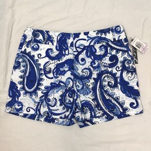 NWT I.N.C. Speckled Paisley Print Shorts